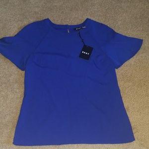 NEW 🦋Beautiful Cobalt Blue DKNY Blouse